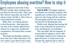 Employees Abusing Overtime
